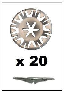 20x VOLKSWAGEN Undertray Exhaust Heat Shield Metal Spring Washer Fixing Clip Nut