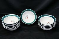 "Home Holly Xmas Soup Cereal Bowls 7"" Lot of 12"