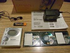 Sharp  MD  MT - 180 S   Minidisc  + 3 MD´s + Al + Netzteil + Ohr  (036)