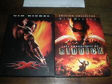 LOT 2 COFFRETS DVD FILMS AVEC VIN DIESEL : XXX + LES CHRONIQUES DE RIDDICK