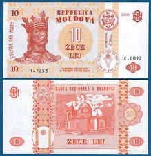 MOLDAWIEN / MOLDOVA 10 Lei 2006 UNC  P.10 e
