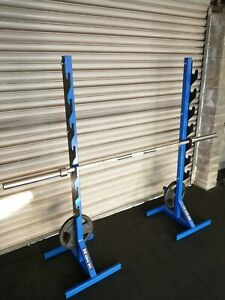 🇬🇧 FAB WORX Heavy Duty Squat Stands Rack Bench Press Gym British made weights