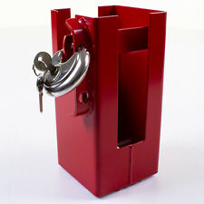 Heavy Duty Trailer Coupling Lock Universal Box Hitch Safety Security Red Steel