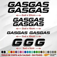 KIT 9 PEGATINAS GASGAS  STICKER VINILO PACK MOTO VINYL AUFKLEBER GAS GAS COLORES