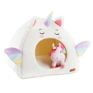 Cute White Unicorn Cat Dog Pet House Cave Igloo
