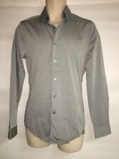 Express 1MX Gray Button Front Dress Shirt Size XS Fitted Mens NWT