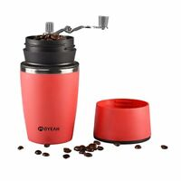 Portable Travel Manual Grinder conical burr Coffee Maker Stainless Steel Mug
