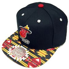 Mitchell & Ness Gtech Miami Heat snapback CAP eu250 Capuchon Basecap Mens Neuf New