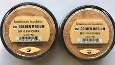 BareEscentuals BareMinerals ID GOLDEN MEDIUM 2G SPF15 LARGE I.D - PACK OF 2