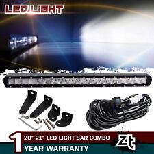 "Slim 20inch CREE Single Row LED Light Bar Combo Driving Fog Lamp Bumper 21"" 22"""