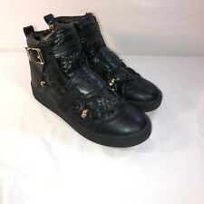 Baby Phat Boots - Mens Size 11 - Black & Gold Buckles