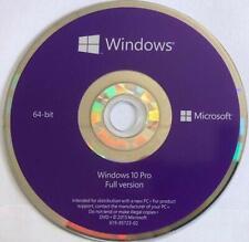 Microsoft Windows 10 Professional 64bit Install DVD DISC only..