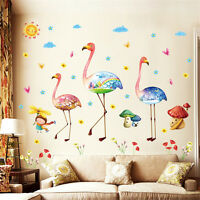 Colorful Flamingos Room Home Decor Removable Wall Stickers Decals Decoration