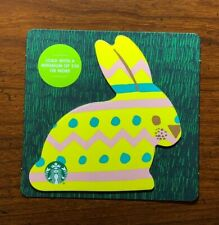 STARBUCKS Gift Card 2019 Die Cut Bunny Rabbit Yellow Happy Easter Egg No $ Value