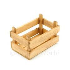 Puppenhaus Miniatur große Jahrgang Latten Holz Gemüse Kiste