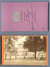 P. Osterhuis, Pays-Bas, La Haye La Palais du Prince Henri CDV vintage albumen ca