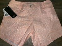 Adidas ~ NWT Women's Shorts Golf Pink White Athletic Polyester ~ 6