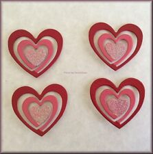 Heart Swirl Metal Magnets Set of 4 by Roeda® Free U.S. Shipping