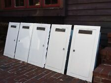 New listing 5 Vtg Wall Mount Fire Extinguisher Cabinets - Cast Metal F/E Plates -Very Good