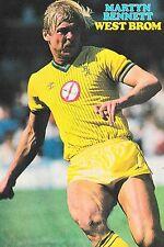 Football Photo MARTYN BENNETT West Bromwich Albion 1985-86