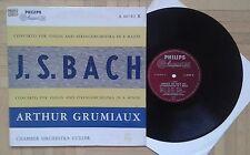 V626 GRUMIAUX BACH VIOLIN CONCERTO GULLER CHAMBER ORCHESTRA PHILIPS MINIGROOVE