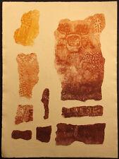 "Martha Slaymaker ""Paplotl II"" Hand Signed Collagraph Etching Fine Art MAKE OFFER"