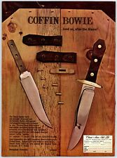 1976 Coffin Bowie Hunting Knife  Vintage Print Ad A1