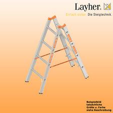 Layher Alu Sprossenstehleiter, 2x4 Spr., L=1,30m, Bockleiter Topic Typ 1039.004