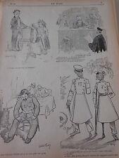 Caricature 1895  Affaire de Corse Le Gréffier : Bandicelii est accusé..