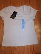 NWT WOMENS ACTIVE LIFE LIGHT GREY GRAY T-SHIRT SHIRT LARGE L SHORT SLEEVED