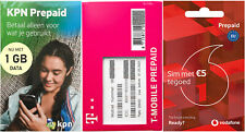 Prepaid SIM package Netherlands 3x Activated KPN T-Mobile Vodafone incl. Credit