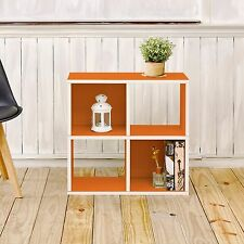 Eco 4 Cubby Bookcase, Stackable Shelf and Organizer, Orange (FREE SHIPPING)