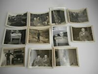 11 WWII Era 1945 PHOTOS B & W GIs Soldiers MILITARY US Army Jeep Tents Snapshots