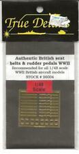 True Details Foto Ätzung Zweiter Weltkrieg Britisch Sitz Gürtel & Ruder Pedale