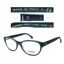 96e15c079a CHANEL 3309-Q c.1447 Green Transparent 51 16 140 Eyeglasses Rx
