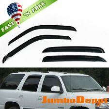US 4X Smoke Window Visor Rain Sun Guard Vent For 01-06 Sierra Silverado Crew Cab