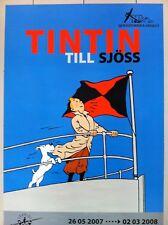 Tintin affiche/poster de l´exposition au Musée maritime de Stockholm 2007 - 2008