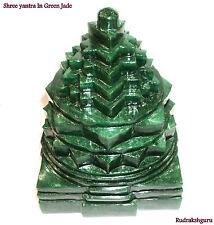 Green Jade Shree Yantra / Shri Yantra In Natural Green Jade - 3385 gm - 7 inches