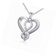 Infinity Heart Pendant for Women Gi Faith Necklace 925 Sterling Silver Hope Love