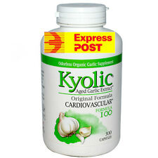 Kyolic Garlic Aged Extract  Odorless Organic Capsules  300 CAPSULES GREAT VALUE