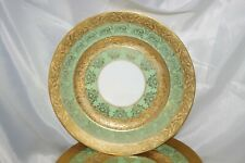 Hutschenreuther Selb Royal Bavaria Dinner Plate Gold Encrusted & Green China