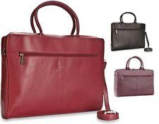 """Ladies Visconti Ollie 13"""" Laptop Leather Office bag Organiser RFID Security"""