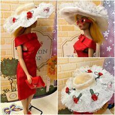 Vintage Inspired Barbie OOAK Sheath & Shimmering Magic HAT,Glamour Group CLUTCH
