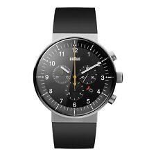 Braun Herren BN0095 Prestige Chronograf Uhr mit Kautschukband, 66548, Neu+OVP