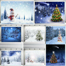 Snow Tree Christmas Photography Backdrops For Photographers Photo Background