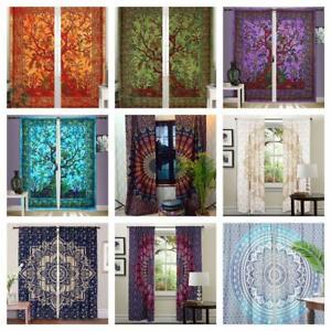 Hippie Vorhänge Boho Gypsy Teen Room-Dorm-Hippy Mandala Wandbehang Fenster