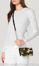 MICHAEL KORS Brown (Duffle) CALFHAIR Jet Set Wallet On A Chain Shoulder Bag BNWT