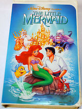 Disney LITTLE-MERMAID VHS Movie Banned Cover RARE Black Diamond Collectible