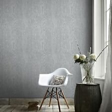 Boutique Cypress Scandinavian Wood Grain Effect Grey/Silver Wallpaper