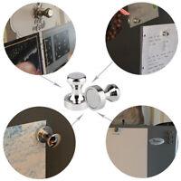 10x Neodymium Office White Memo Notice Board Fridge Metal Skittle Pin Magnets